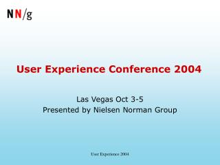 User Experience Conference 2004