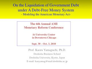On the Liquidation of Government Debt under A Debt-Free Money System - Modeling the American Monetary Act-