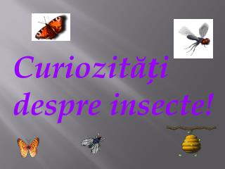Curiozitai       despre insecte