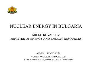NUCLEAR ENERGY IN BULGARIA