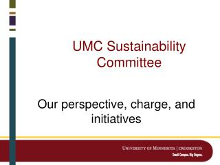 UMC Sustainability Committee