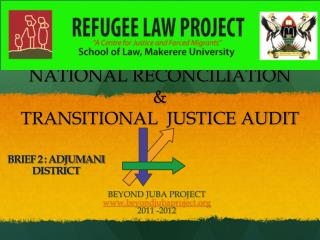 NATIONAL RECONCILIATION   TRANSITIONAL  JUSTICE AUDIT