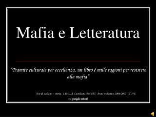 Mafia e Letteratura