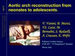 Aortic arch reconstruction from neonates to adolescents.