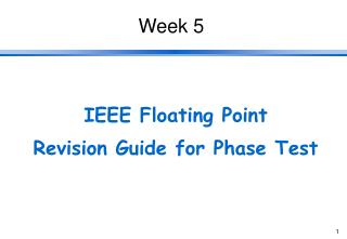 IEEE Floating Point Revision Guide for Phase Test