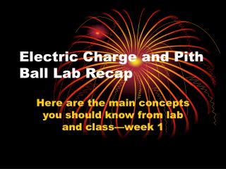 Electric Charge and Pith Ball Lab Recap