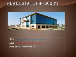 Real Estate Script - Real Estate PHP Script, Real Estate Scr