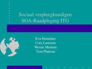 Sociaal verpleegkundigen SOA-Raadpleging ITG