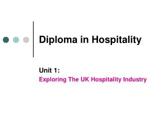 Diploma in Hospitality