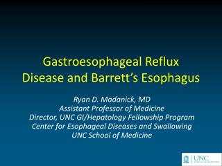 Gastroesophageal Reflux  Disease and Barrett s Esophagus