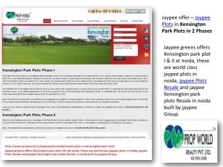 Jaypee Plots-Jaypee Plots Noida-9910007460-Jaypee Kensington