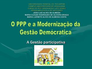 A Gest o participativa