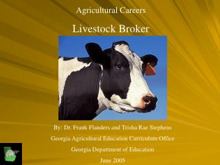 Agricultural Careers Livestock Broker