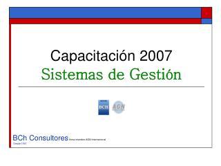 Capacitaci n 2007 Sistemas de Gesti n