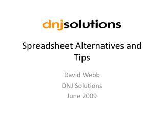 Spreadsheet Alternatives and Tips