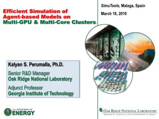Efficient Simulation of Agent-based Models on Multi-GPU  Multi-Core Clusters