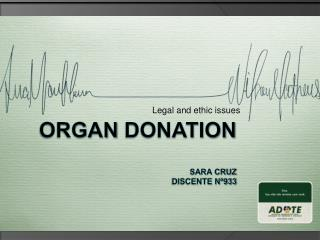 Organ Donation  Sara CRUZ  Discente n 933