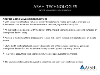 Android Game Development Service ny