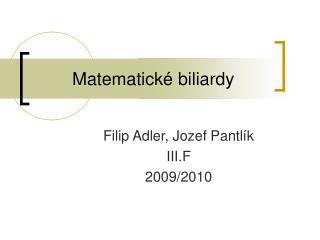 Matematick  biliardy