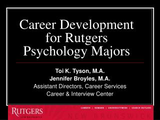 Career Development for Rutgers Psychology Majors