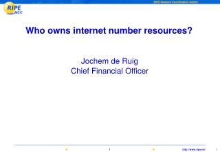 Who owns internet number resources