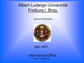 Albert-Ludwigs-Universit t  Freiburg i. Brsg.  uni-freiburg.de