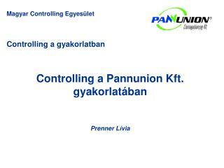 Controlling a gyakorlatban