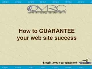 How to GUARANTEE  your web site success