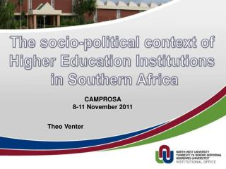 The socio-political context of  Higher Education Institutions  in Southern Africa
