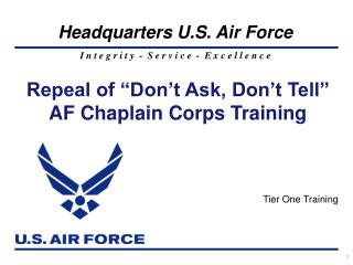 Repeal of  Don t Ask, Don t Tell   AF Chaplain Corps Training