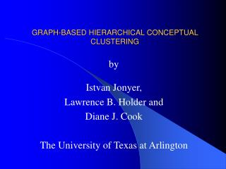 GRAPH-BASED HIERARCHICAL CONCEPTUAL CLUSTERING