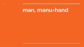 Manu HAnd