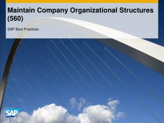 Maintain Company Organizational Structures 560