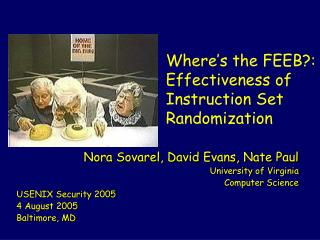 Where s the FEEB:  Effectiveness of Instruction Set Randomization
