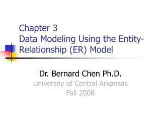 Chapter 3  Data Modeling Using the Entity-Relationship ER Model