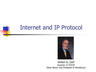 Internet and IP Protocol
