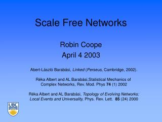 Scale Free Networks
