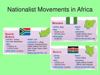 Nationalist Movements in Africa