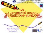 Gli strumenti musicali  di tradizione abruzzese