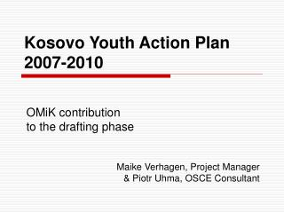 Kosovo Youth Action Plan  2007-2010