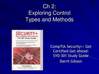 Ch 2:  Exploring Control  Types and Methods