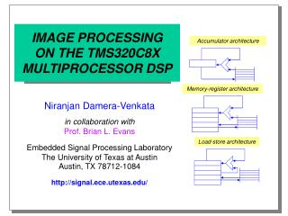 IMAGE PROCESSING ON THE TMS320C8X MULTIPROCESSOR DSP