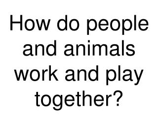 How do people and animals work and play together