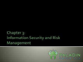 Chapter 3: Information Security and Risk Management