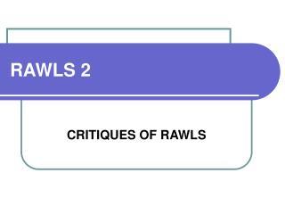RAWLS 2