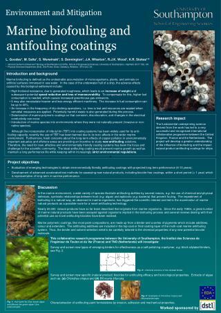 Marine biofouling and antifouling coatings
