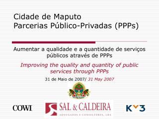 Cidade de Maputo  Parcerias P blico-Privadas PPPs