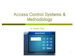 Access Control Systems      Methodology