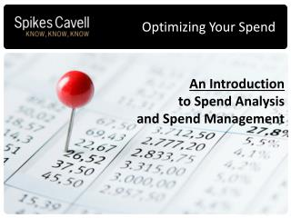 An Introduction  to Spend Analysis  and Spend Management