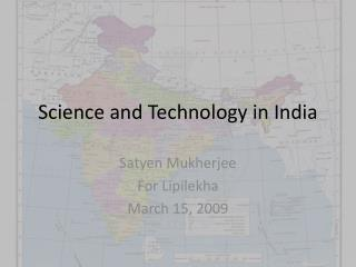 Science and Technology in India